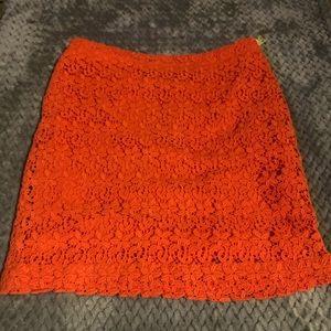 Forever 21 Crochet Orange Skirt